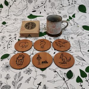 Wooden engraved coasters