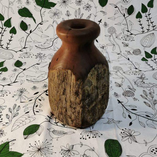 Rustic timber vase