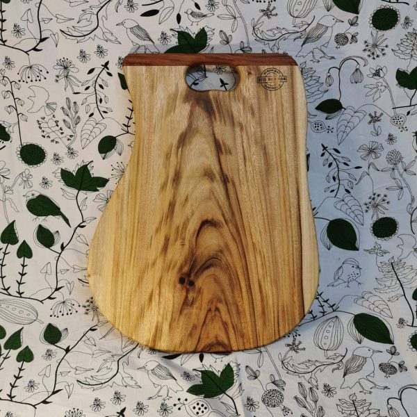 Long wooden cutting board with handle