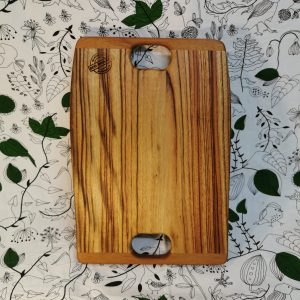 Double handle long wooden cutting board