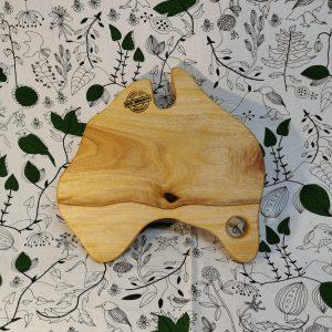 Australia shaped wooden cutting board