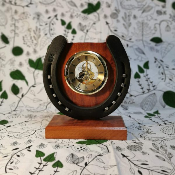 U-shaped wooden clock